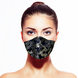 Dragon Mask - Black - Maskela Reusable Fashionable Face Masks