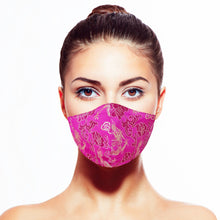 Load image into Gallery viewer, Dragon Mask - Fuchsia - Maskela Reusable Fashionable Face Masks