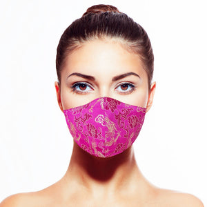 Dragon Mask - Fuchsia - Maskela Reusable Fashionable Face Masks