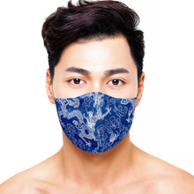 Load image into Gallery viewer, Dragon Mask - Navy - Maskela