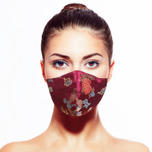 Load image into Gallery viewer, Empress Mask - Burgundy - Maskela Reusable Fashionable Face Masks