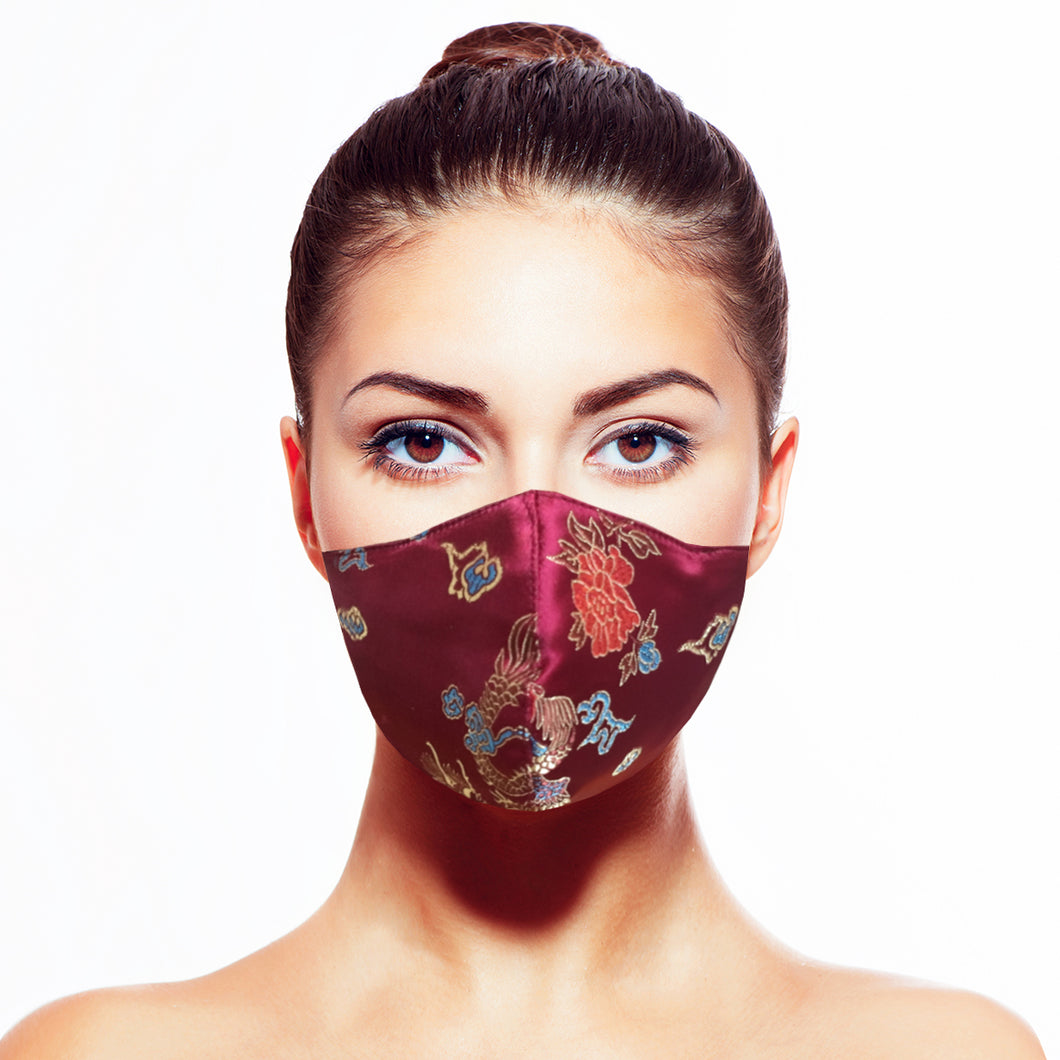 Empress Mask - Burgundy - Maskela Reusable Fashionable Face Masks