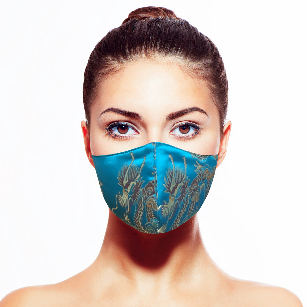 Empress Mask - Turquoise - Maskela Reusable Fashionable Face Masks