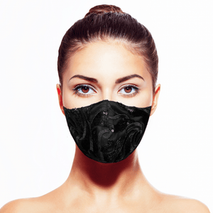 Esmeralda Mask - Noire - Maskela Reusable Fashionable Face Masks