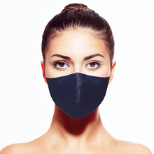 Load image into Gallery viewer, Silk Mask w/Crystal - Navy - Maskela
