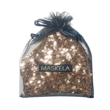 Load image into Gallery viewer, Sequin Mask - Shiny Rose Gold - Maskela Reusable Fashionable Face Masks