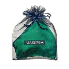 Load image into Gallery viewer, Satin Mask - Emerald - Maskela Reusable Fashionable Face Masks