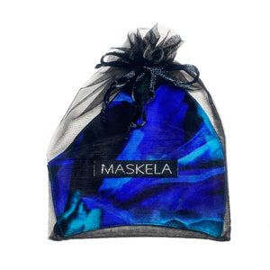 Aurora Borealis Silk Mask - Maskela Reusable Fashionable Face Masks