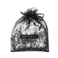 Load image into Gallery viewer, Sequin Mask - Matte Steel - Maskela Reusable Fashionable Face Masks