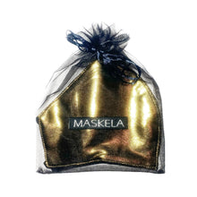 Load image into Gallery viewer, Metallic Mask - Gold - Maskela Reusable Fashionable Face Masks