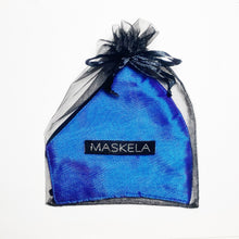 Load image into Gallery viewer, Thai Silk Mask - Iridescent Blue - Maskela