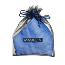 Load image into Gallery viewer, Lamé Mask - Blue Ice - Maskela Reusable Fashionable Face Masks