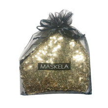 Load image into Gallery viewer, Sequin Mask - Shiny Gold - Maskela