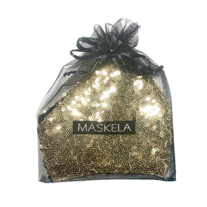 Sequin Mask - Shiny Gold