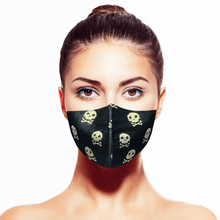 Load image into Gallery viewer, Skull Mask - Black - Maskela Reusable Fashionable Face Masks