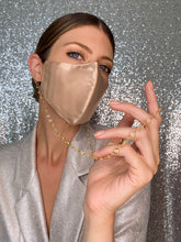 Load image into Gallery viewer, Silk Mask w/Crystal - Champagne - Maskela