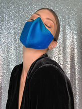 Load image into Gallery viewer, Iridescent Silk Mask - Turquoise - Maskela