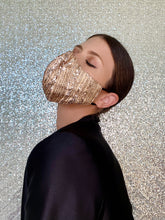 Load image into Gallery viewer, Sequin Glitter Mask - Rose Gold - Maskela