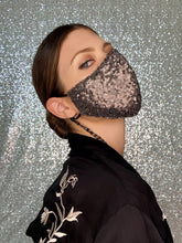 Load image into Gallery viewer, Sequin Mask - Matte Gunmetal - Maskela
