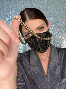 Kiara Mask Chain - Gold - Maskela