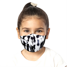 Load image into Gallery viewer, Kids Abstract Mask - Black - Maskela