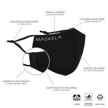 Load image into Gallery viewer, Satin Mask - Sapphire - Maskela Reusable Fashionable Face Masks