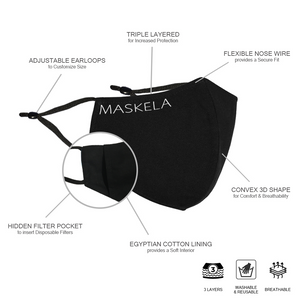 Illusion Mask by Carol Chen - Maskela Reusable Fashionable Face Masks