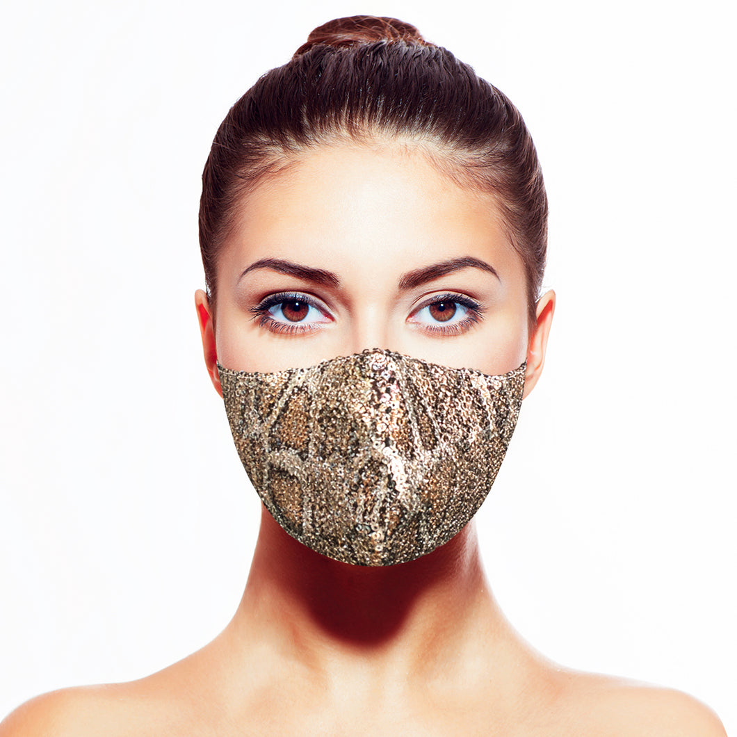 Medusa Sequin Mask* - Maskela Reusable Fashionable Face Masks