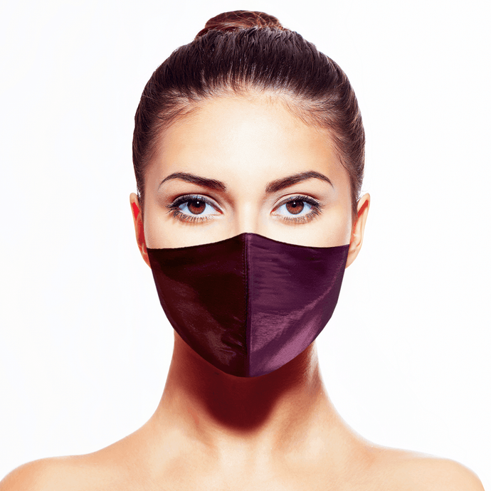 Lamé Mask - Merlot - Maskela Reusable Fashionable Face Masks
