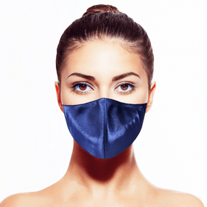 Lamé Mask - Indigo - Maskela Reusable Fashionable Face Masks