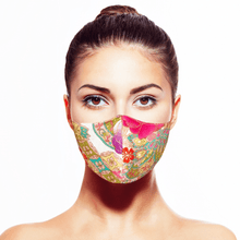 Load image into Gallery viewer, Peranakan Mask - White - Maskela