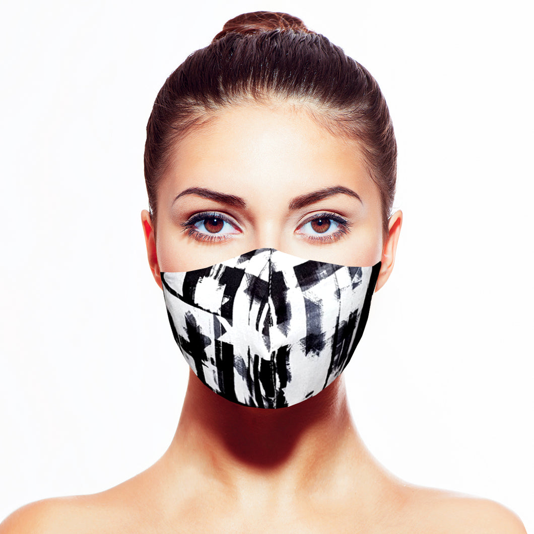 Abstract Mask - Black - Maskela