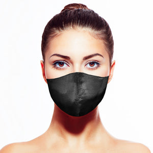 Classic Silk Mask - Onyx - Maskela Reusable Fashionable Face Masks