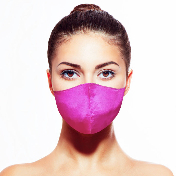 Satin Mask - Fuchsia - Maskela Reusable Fashionable Face Masks