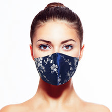 Load image into Gallery viewer, Sakura Mask - Blue - Maskela Reusable Fashionable Face Masks