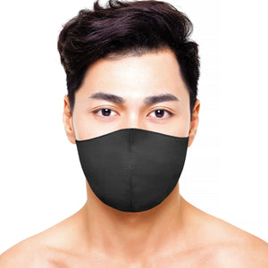 Satin Mask - Matte Black - Maskela Reusable Fashionable Face Masks