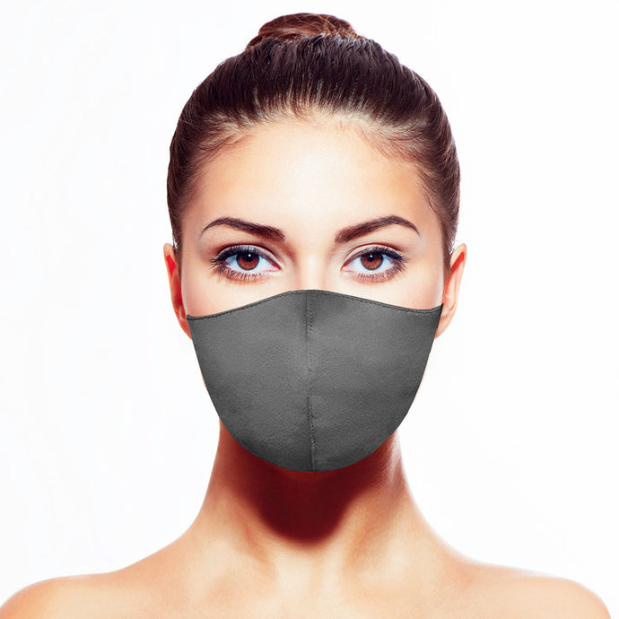 Satin Mask - Matte Gray - Maskela Reusable Fashionable Face Masks