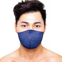 Load image into Gallery viewer, Satin Mask - Matte Navy - Maskela Reusable Fashionable Face Masks
