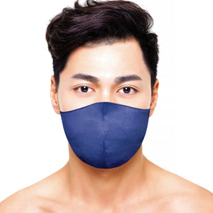 Satin Mask - Matte Navy - Maskela Reusable Fashionable Face Masks