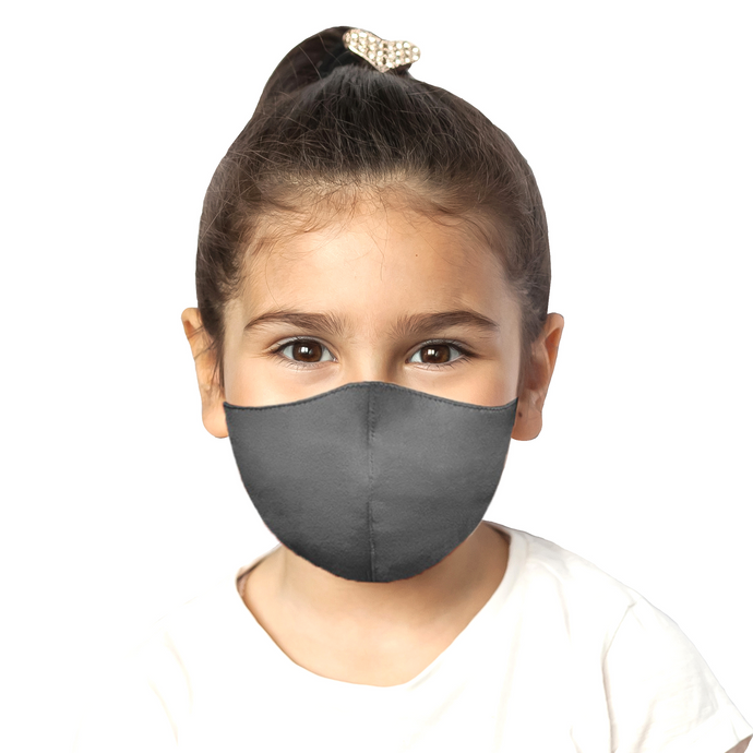 Kids Satin Mask - Matte Gray - Maskela Reusable Fashionable Face Masks