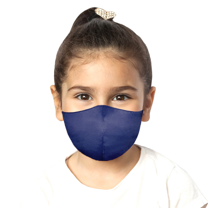 Kids Satin Mask - Matte Navy - Maskela Reusable Fashionable Face Masks