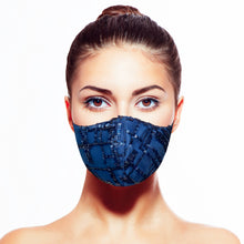 Load image into Gallery viewer, Sequin Mask - Abstract Navy - Maskela
