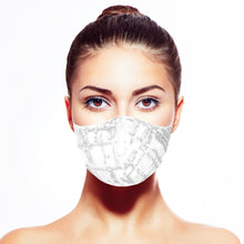 Load image into Gallery viewer, Sequin Mask - Abstract White - Maskela Reusable Fashionable Face Masks