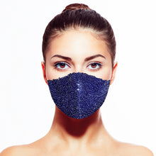 Load image into Gallery viewer, Sequin Mask - Shiny Midnight - Maskela Reusable Fashionable Face Masks