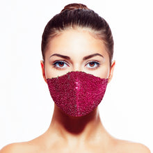 Load image into Gallery viewer, Sequin Mask - Shiny Berry - Maskela Reusable Fashionable Face Masks