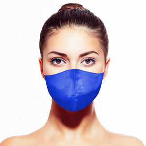 Satin Mask - Sapphire - Maskela Reusable Fashionable Face Masks