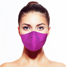 Load image into Gallery viewer, Thai Silk Mask - Iridescent Magenta - Maskela Reusable Fashionable Face Masks