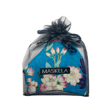 Load image into Gallery viewer, Floral Mask - Turquoise - Maskela Reusable Fashionable Face Masks