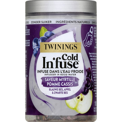 Infusion myrtille pomme & cassis Cold Infuse TWININGS