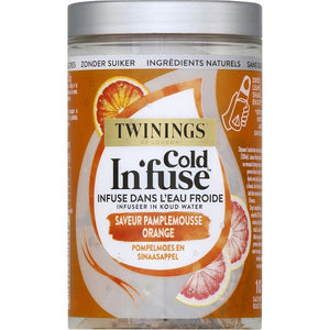 Infusion pamplemousse orange Cold Infuse TWININGS